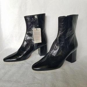 Zara Italian leather zip up ankle boots 8 NWT #S00